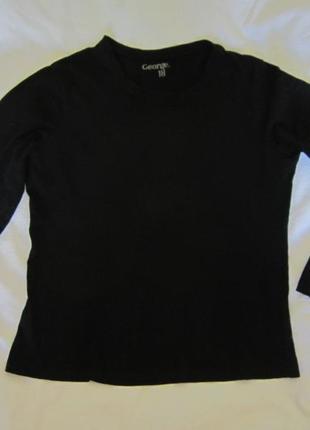 Черный лонгслив свитшот джемпер