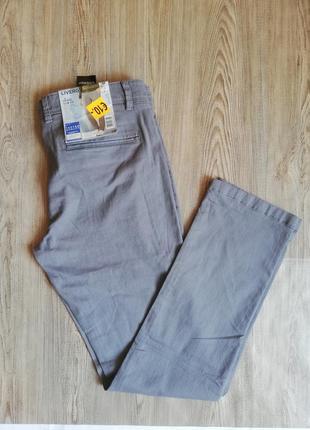 Мужские серые штаны, брюки чиносы livergy 52