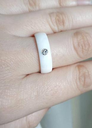 Кольцо керамическое белое керамика колечко2 фото