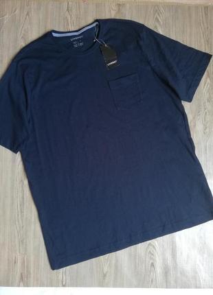 Мужская хлопковая футболка livergy l 52 /54