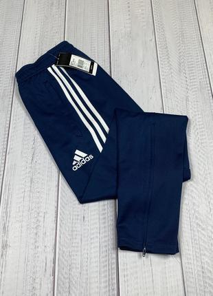Мужские спортивные штаны adidas tiro17 climacool original xs s m l новые синие зауженные