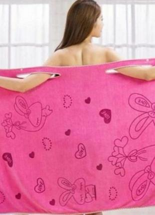 Женское полотенце-халат