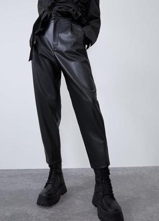 Кожаные штаны zara