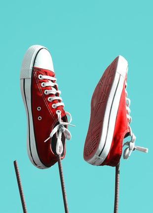 Кеды красные низкие. хит продаж!!1 фото