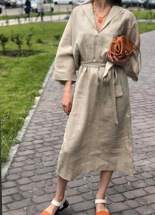 Платье лён оверсайз