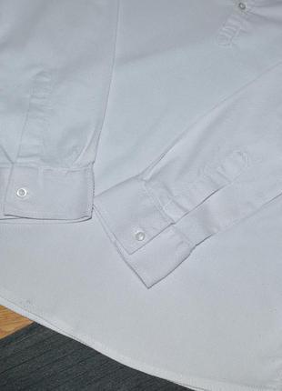 Белая фактурная рубашка р.s3 фото