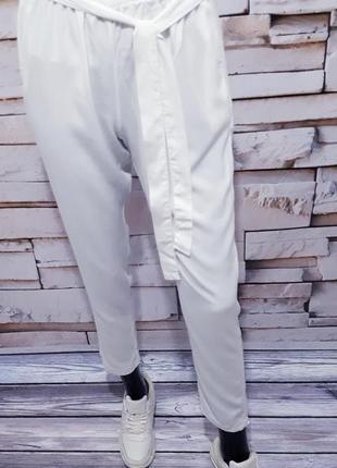 Белоснежные брюки штаны италия  / зауженные/5 фото