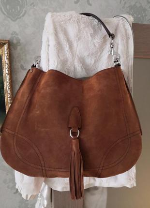 Роскошная большая замшевая сумка madeleine, италия👜👜👜💥👑🔥