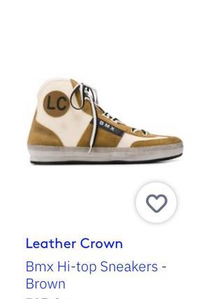 Leather crown итальянские кроссовки 43 размер9 фото