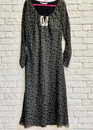 Платье макси, длинное платье размер xl, l, m, платье с кружевом