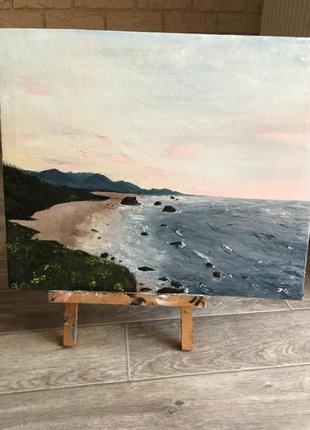 Картина маслом «океан на рассвете»