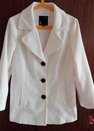 Белое кашемировое пальто, полупальто tally weijl р. 42