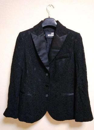 Love moschino шикарный кружевной пиджак