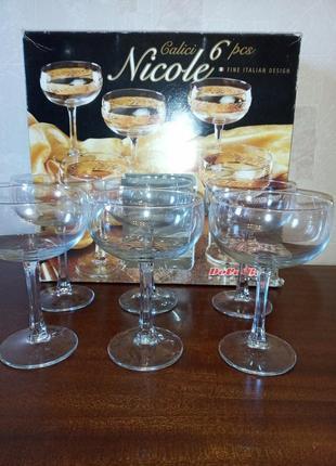Набор бокалов для шампанского коктейля devalbor cerve italia