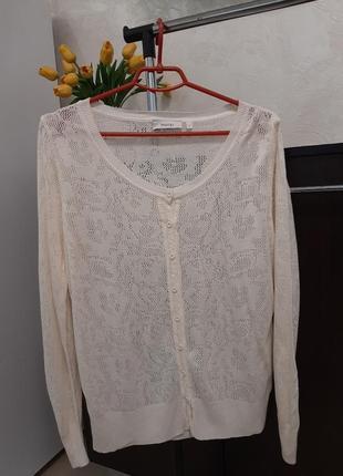 Кофта летняя накидка блузка ажурная
