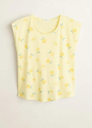 Футболочка mango лимончики