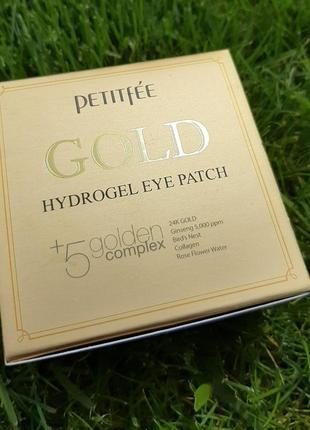 Гідрогелеві патчі для очей із золотим комплексом +5 petitfee gold hydrogel eye patch 60 шт