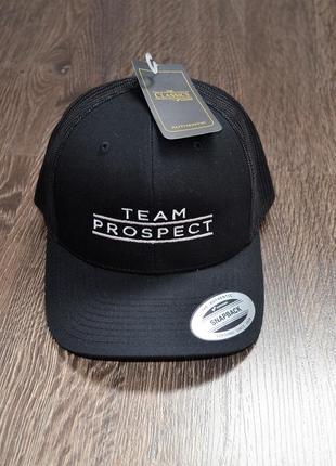 Стильный черный тракер team prospect ® snapback trucker cap