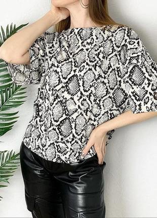 Блуза футболка блузка рубашка питон змея змеиный принт кофта джемпер обмен