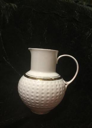 Фарфоровый старый советский кувшин молочник ваза фарфор ссср