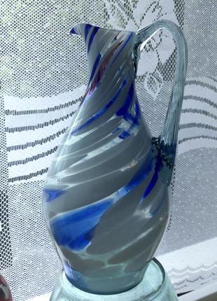 Кувшин графин ссср цветное гутное стекло