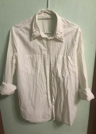 Рубашка с красивым воротником
