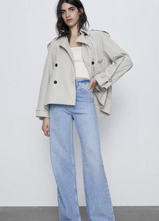 Джинси широкі, широкие джинсы zara
