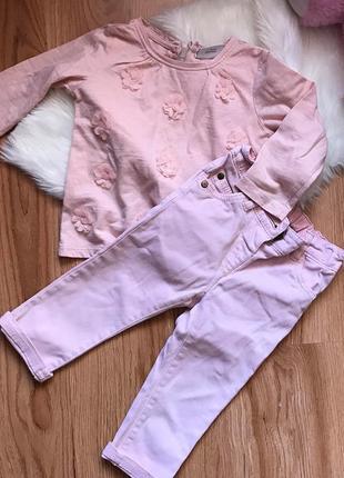 Комплект джинсы и лонслинг