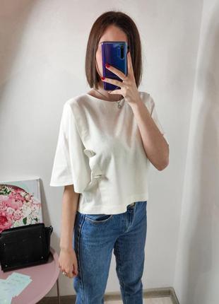 Женский топ блуза zara из льна льняной
