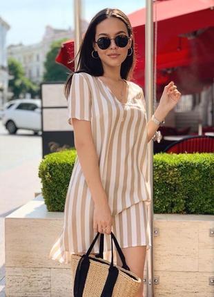 Шикарное платье туника льняное
