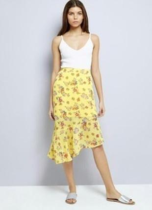 Новая шифоновая асимметрическая воздушная юбка new look