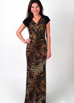 Брендовое леопардовое нарядное вечернее летнее макси платье mango марокко этикетка