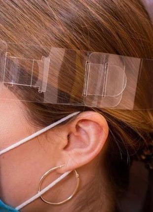 Защитный экран щиток на лицо изолирующая прозрачная маска для лица производитель украины7 фото