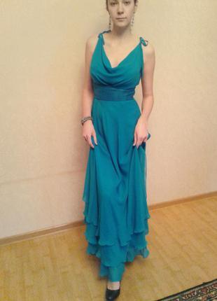 Красивое голубое платье от natali bolgar