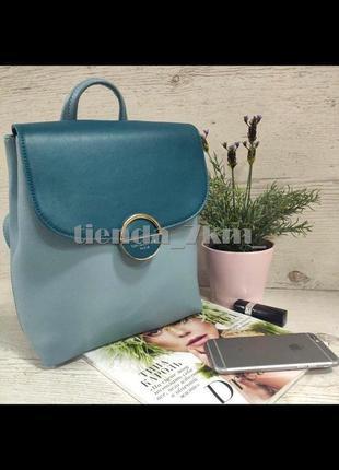 Стильный двухцветный рюкзак david jones 6233-2t  голубой