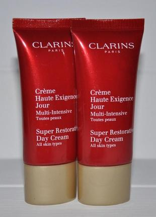 Clarins восстанавливающий дневной крем all skin types  30 мл - тестер