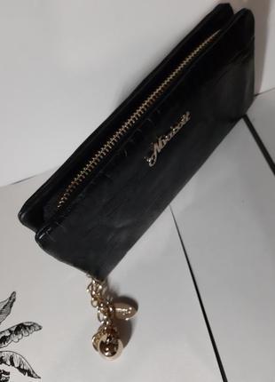 Шикарный кошелек 100 % кожа nivacott на молнии3 фото