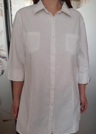 Льняная лен рубашка