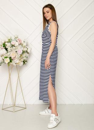 Шикарное длинное трикотажное платье в пол