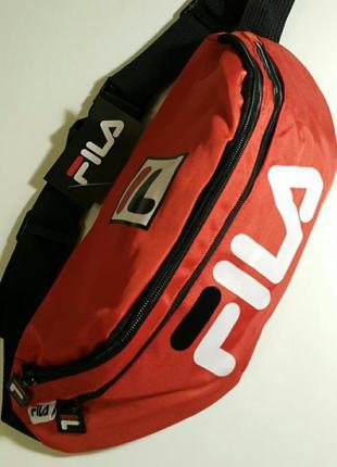 Большая бананка fila спортивная сумка фила на пояс на плечо барсетка барыжка