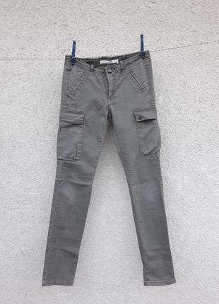Котоновые стрейчевые штаны