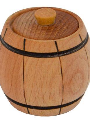 Солонка деревянная с крышкой