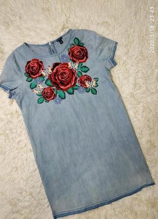 Джинсовое легкое платье