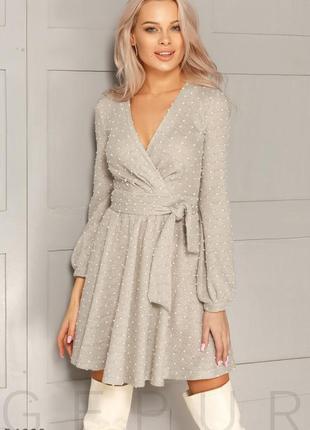 Расклешенное теплое платье