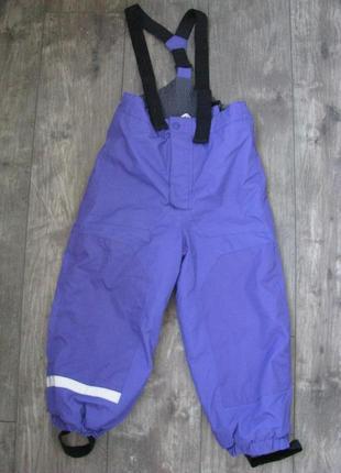 Лыжные штаны рост 116 см 5-6 лет комбинезон h&m зимние теплые