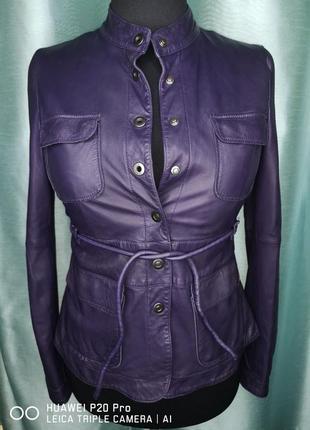 Кожаная куртка, пиджак armani оригинал р. 44 (м)