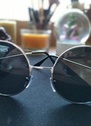 Очки солнцезащитные (круглые, ретро)