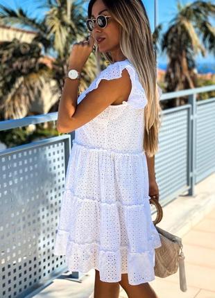 Платье  мод.360 ткань - прошва , подклад  размеры 42-44, 44-46