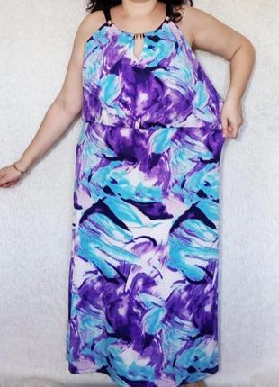 Распродажа! яркое стильное платье батал