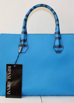 Шикарная кожаная итальянская сумка ripani.